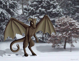 October Dark Art 2 - Jersey Devil by hyenacub