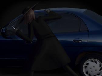 October Dark Art 6 - Hook Man by hyenacub