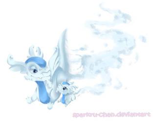 Cloudy flights by Sparkru-chan