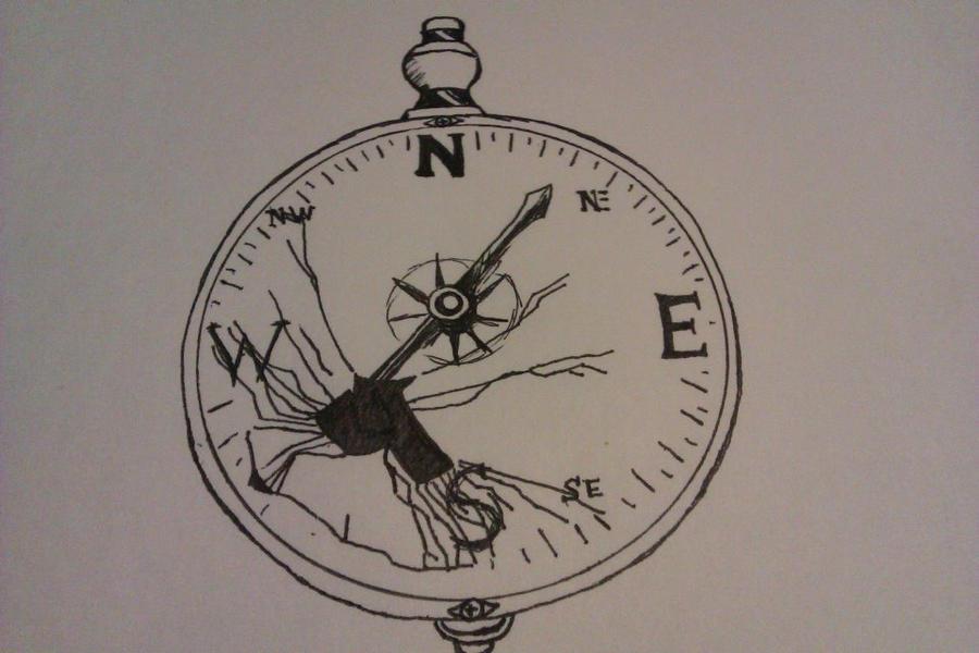 Compass Tattoo Line Drawing : Broken compass tattoo concept by lion joe on deviantart
