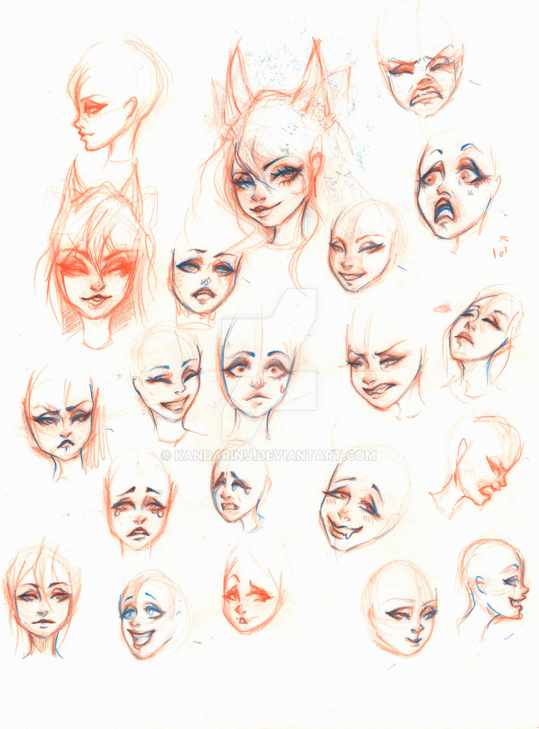 Character Design Expression : Character design facial expressions by kandarinu on deviantart