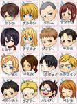 Shingeki no Kyojin stickers