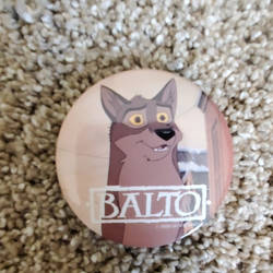 Balto promotional pin