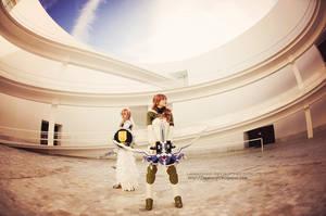 Lightning and Serah FFXIII-2 cosplay II by onlycyn