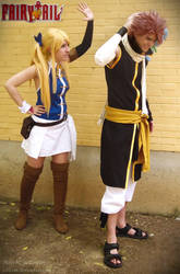 Natsu and Lucy - Fairy Tail cosplay by onlycyn