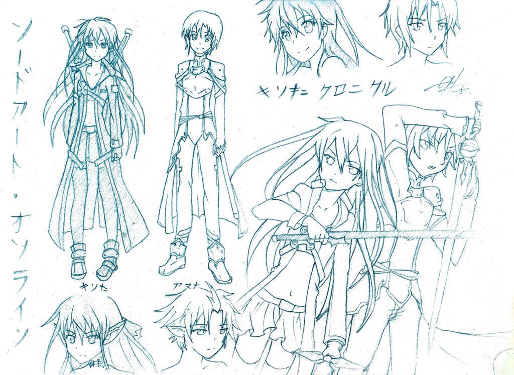 The Kirita Chronicles Sketch~ by nishikayui