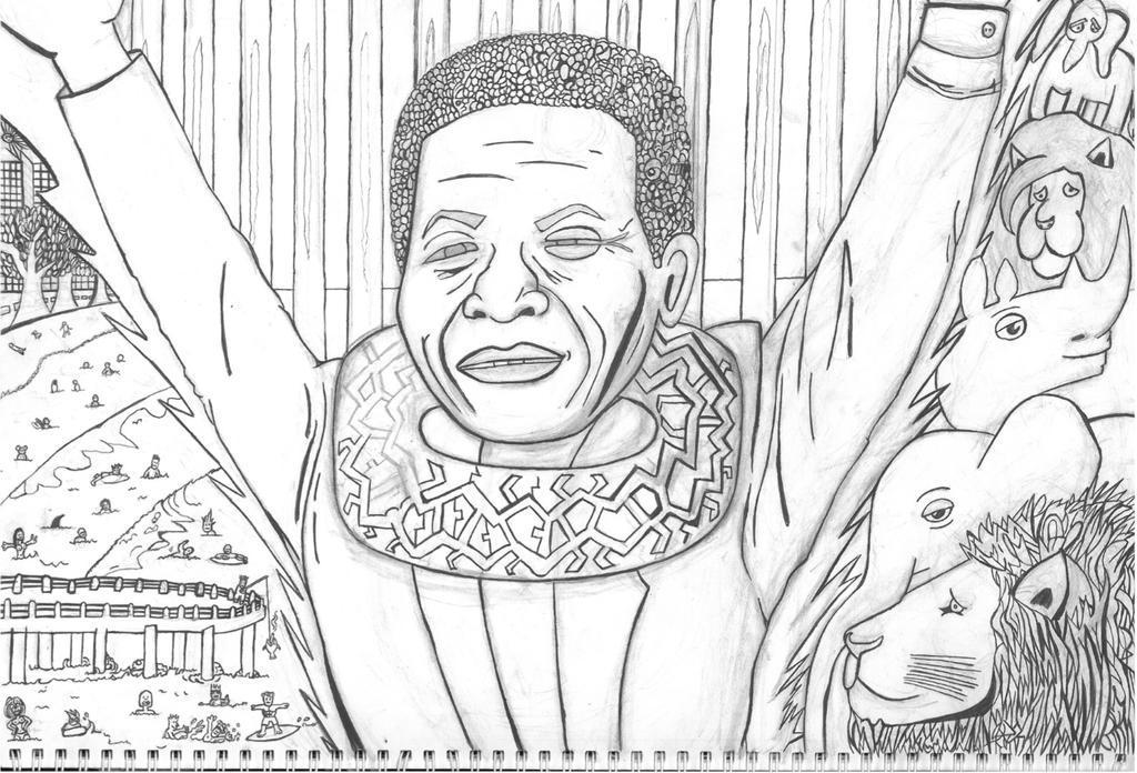 Nelson Mandela by XsaHero