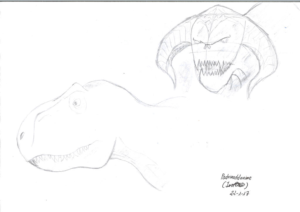 Rex and Balrog sketch by Padrinodelanime