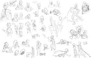 Steven Universe - Doodle dump 3 by LittleSnaketail