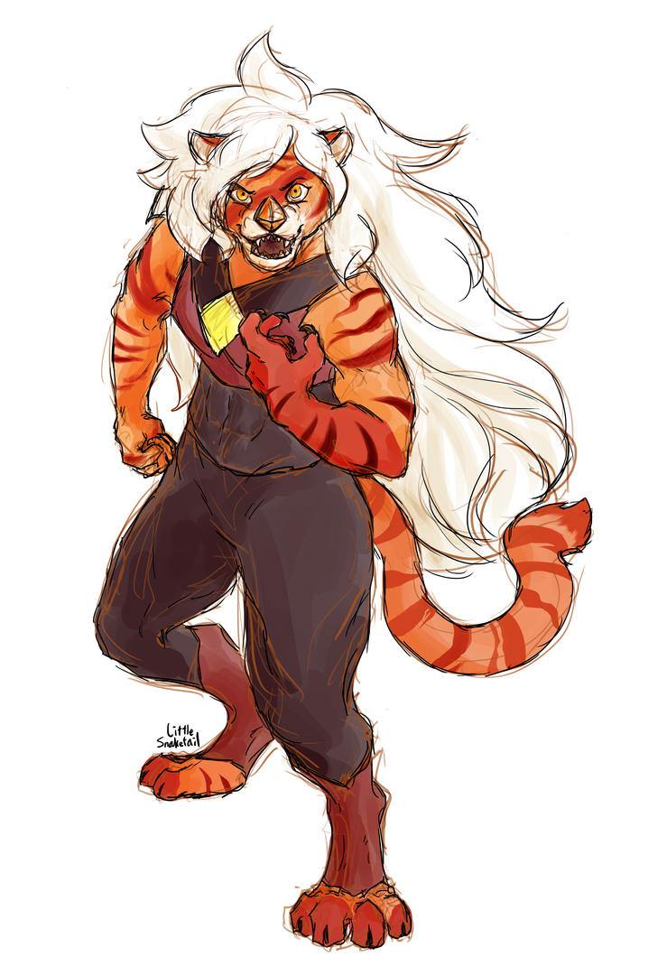 Jasper as a tiger Version without sketch lines Steven Universe (C) Rebecca Sugar/CN