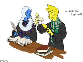 Hogwarts AU but also a shitpost by LittleSnaketail
