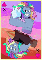 Bismuth, 8 of Pink Diamonds by LittleSnaketail
