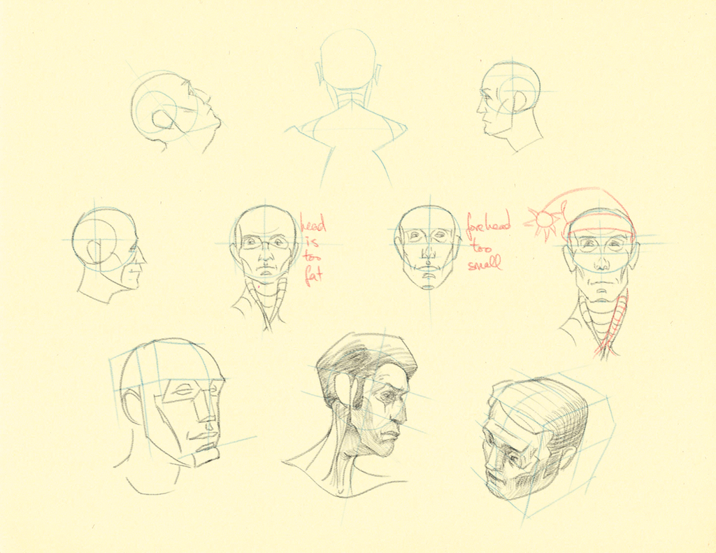 Hampton p.76: Head Studies 1 by theThirdCartel