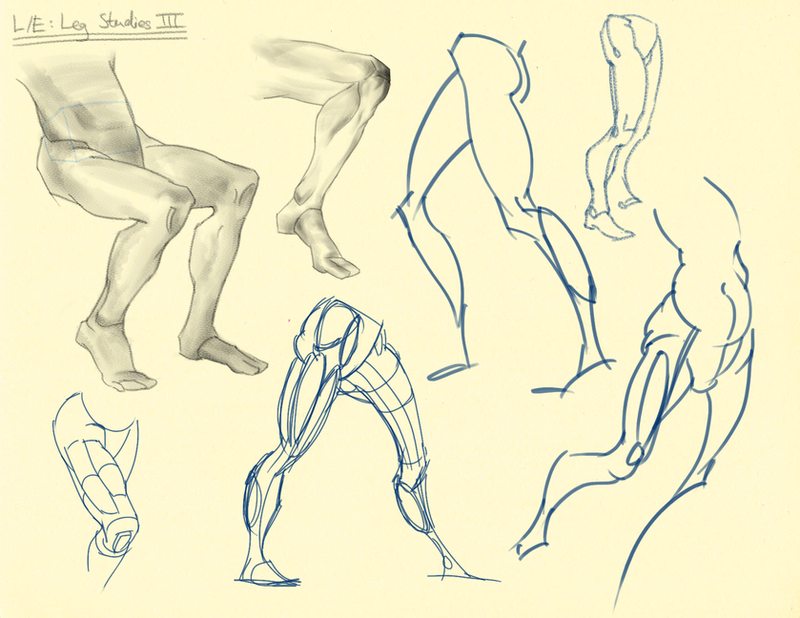 Hampton p.198-200: L/E - Leg Studies III by theThirdCartel