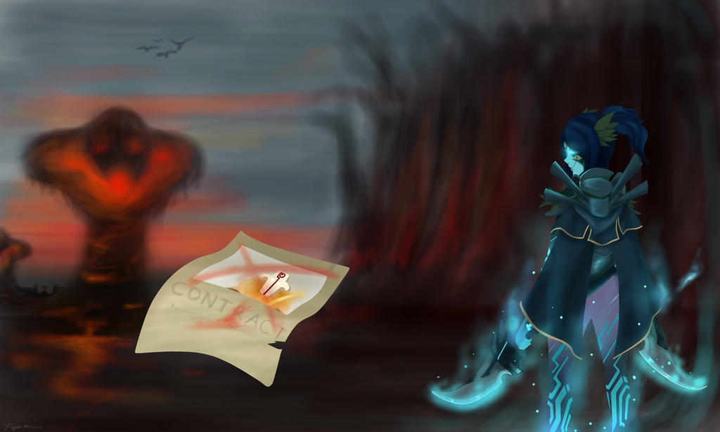 phantom assassin and the contract dota 2 by panjol1212 on