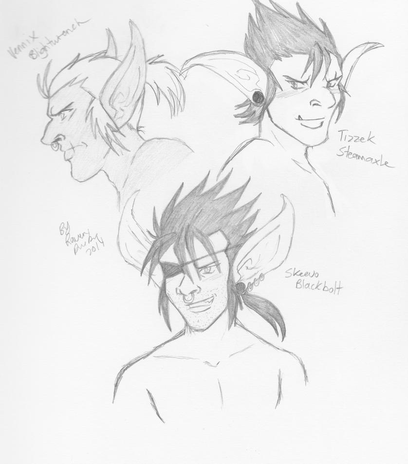 Goblin Sketches by RavenDunbar