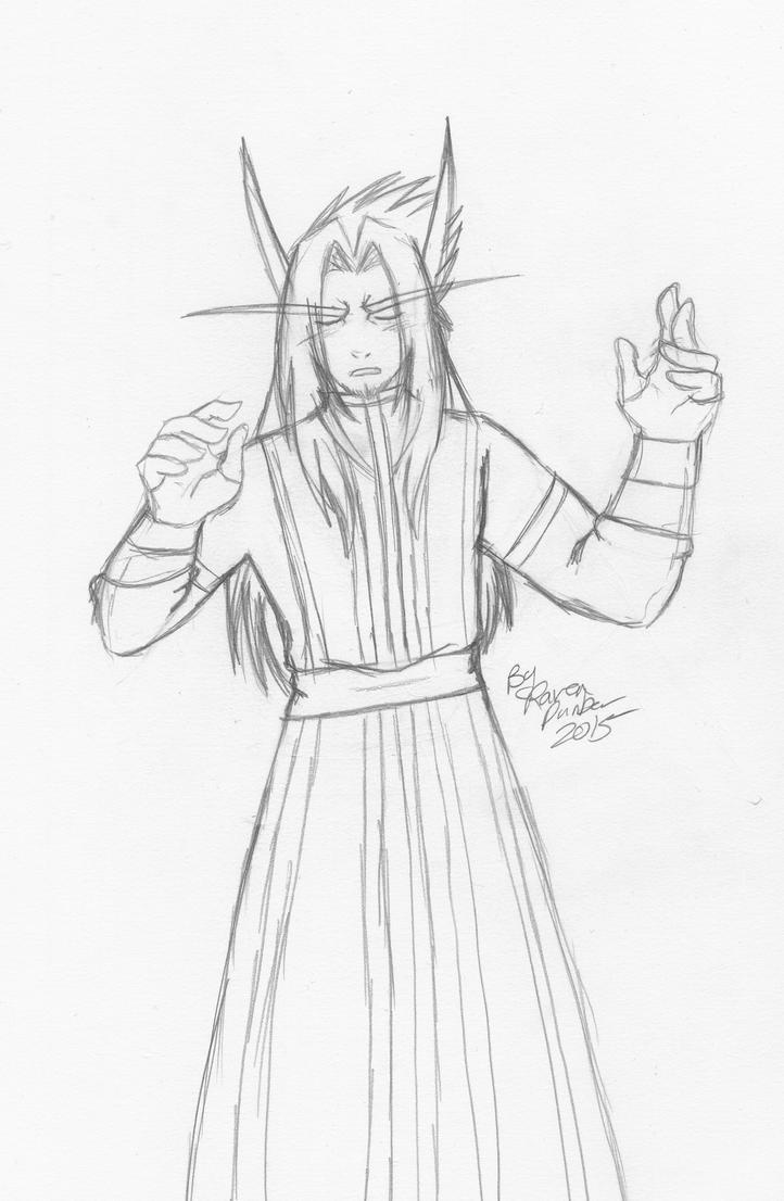 Sketch of Levi by RavenDunbar