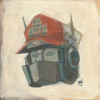 Optimus w/trucker hat by Bewheel