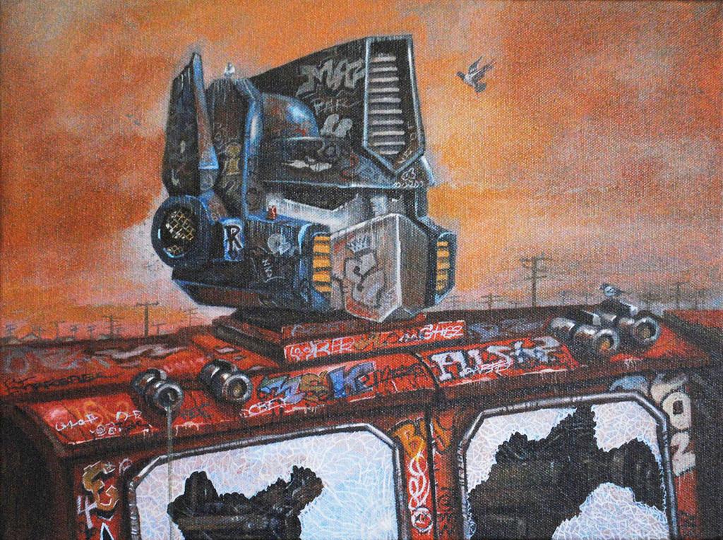 Optimus de-primed by Bewheel