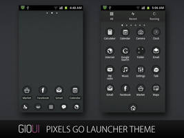 Pixels Go Launcher Theme by giouiteam