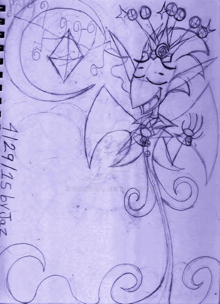 (WIP) Sketch of: C005- King Spookum's Threnody by Jaithedog