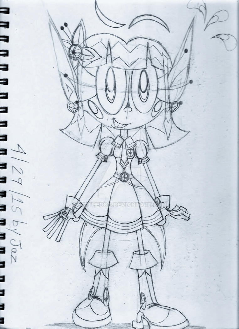(WIP) Sketch of C001-AngelKnight(Detective) Jai by Jaithedog