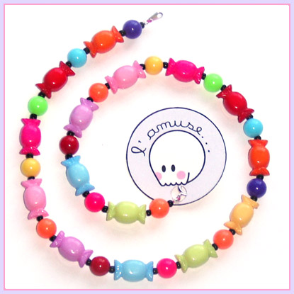 """Collier """"Bubble Gum"""" by lamuse-bidules"""