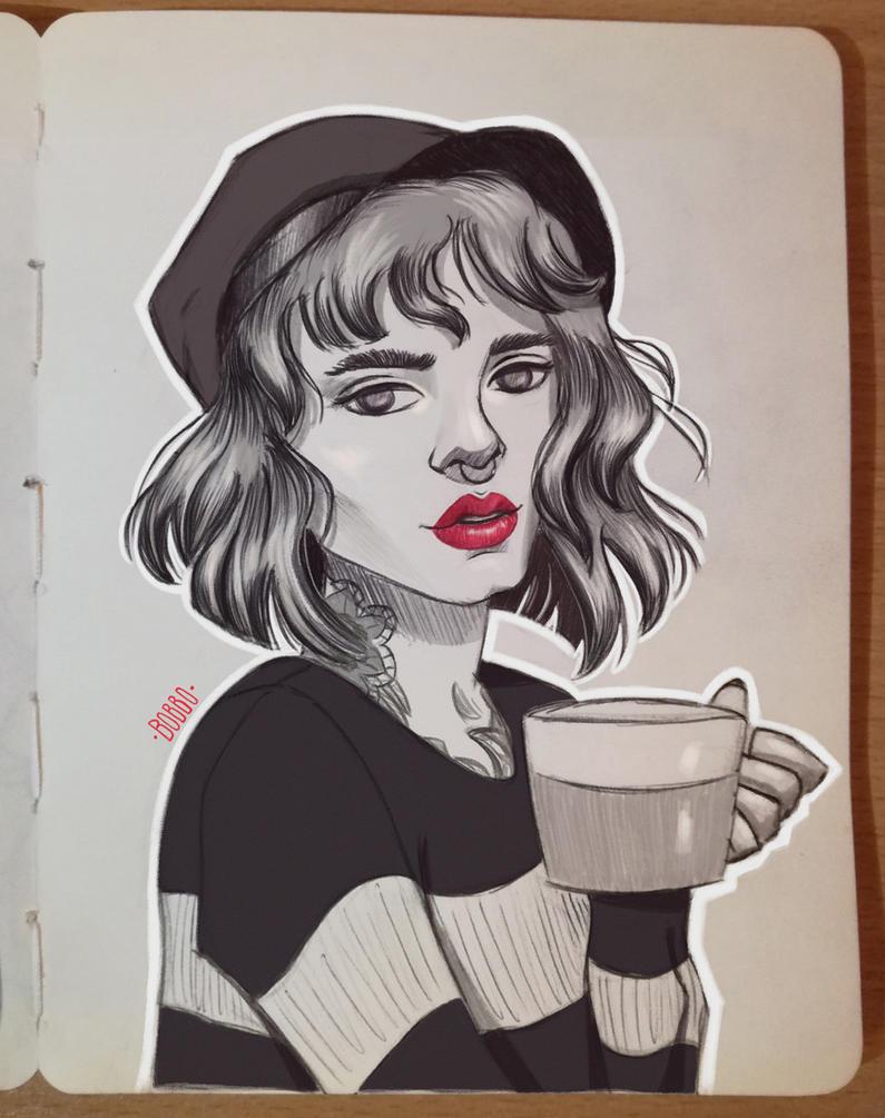 Red lips #1 by BorislAva33
