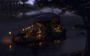 Village Houseboat by LactroX