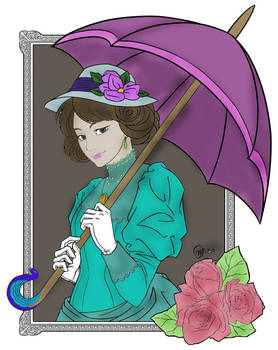 Victorian Lady (colored)