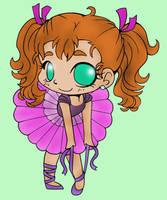 Chibi Ballerina (colored) by SkekMara