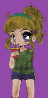 Naomi Chibi (colored) by SkekMara