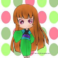 Chibi Enma Ai (colored) by SkekMara