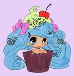 Cupcake Girl (Colored)