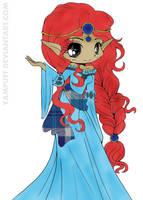 Scottish Elf Princess (Colored) by SkekMara