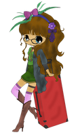 Suitcase Girl (Colored) by SkekMara