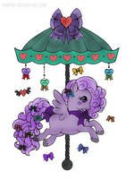 Valentine Gift Carousel Pony (Colored Lineart) by SkekMara