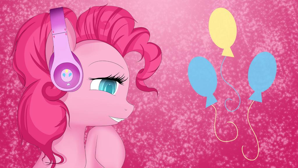 Pinkie Pie with headphones (matrix) by AvareQ