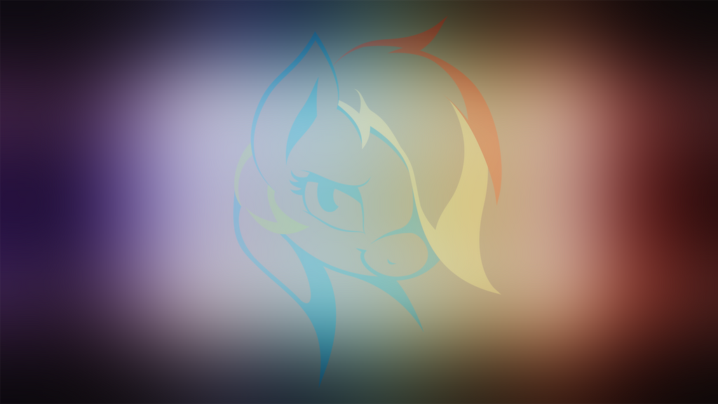 Rainbow Dash Minimalistic Wallpaper