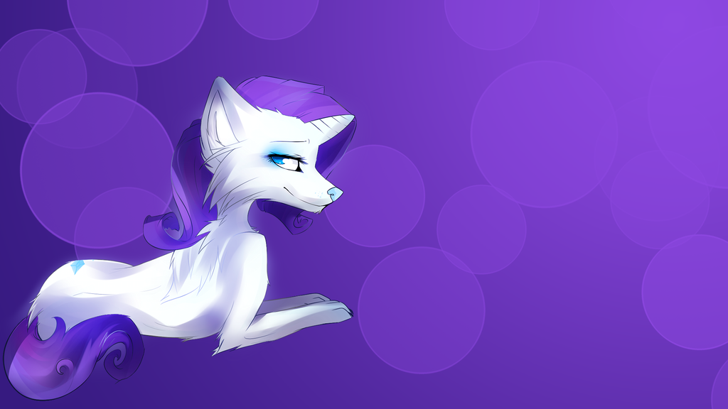 Rarity wolf wallpaper by AvareQ