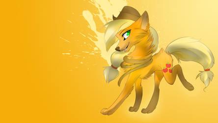 Applejack wolf wallpaper by AvareQ