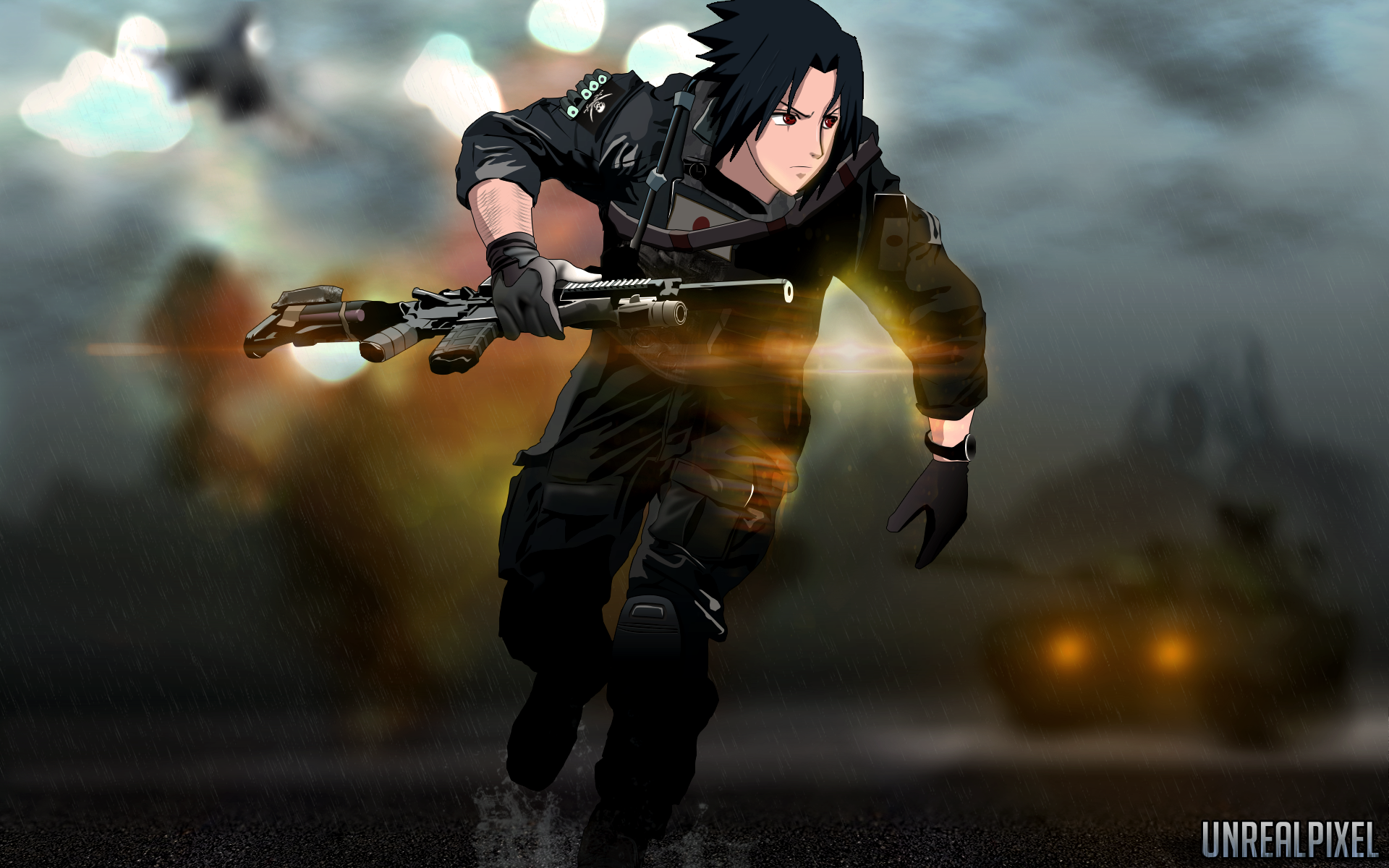 Sasuke in battlefield 4s cover by unrealpixel on deviantart sasuke in battlefield 4s cover by unrealpixel voltagebd Gallery