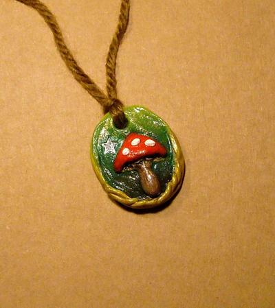 Magic mushroom pendant by halismi on deviantart magic mushroom pendant by halismi mozeypictures Gallery