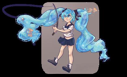 Bottle Miku Fishing! by Getanimated