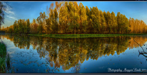 The Old Danube-River. Hungary. HDR.