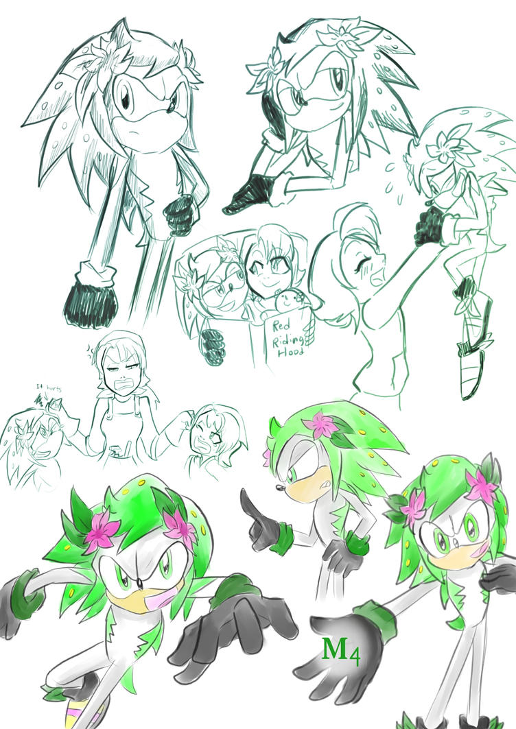 My Shaymin The Hedgehog Sketches by Marini4 on deviantART