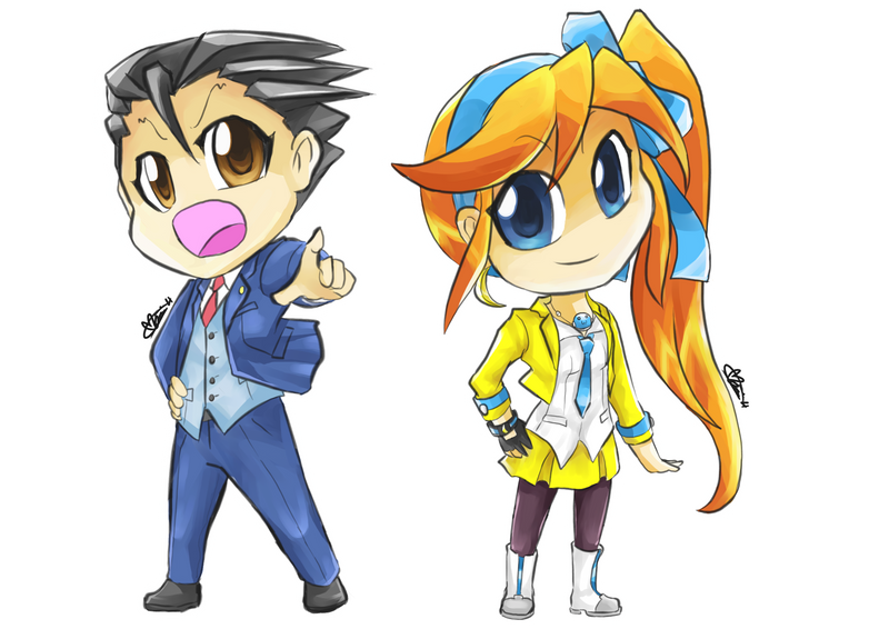 Chibi Edition - Ace Attorney 5 pt 1 by Marini4