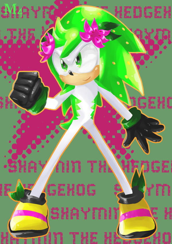 Shaymin The Hedgehog Lineless by Marini4