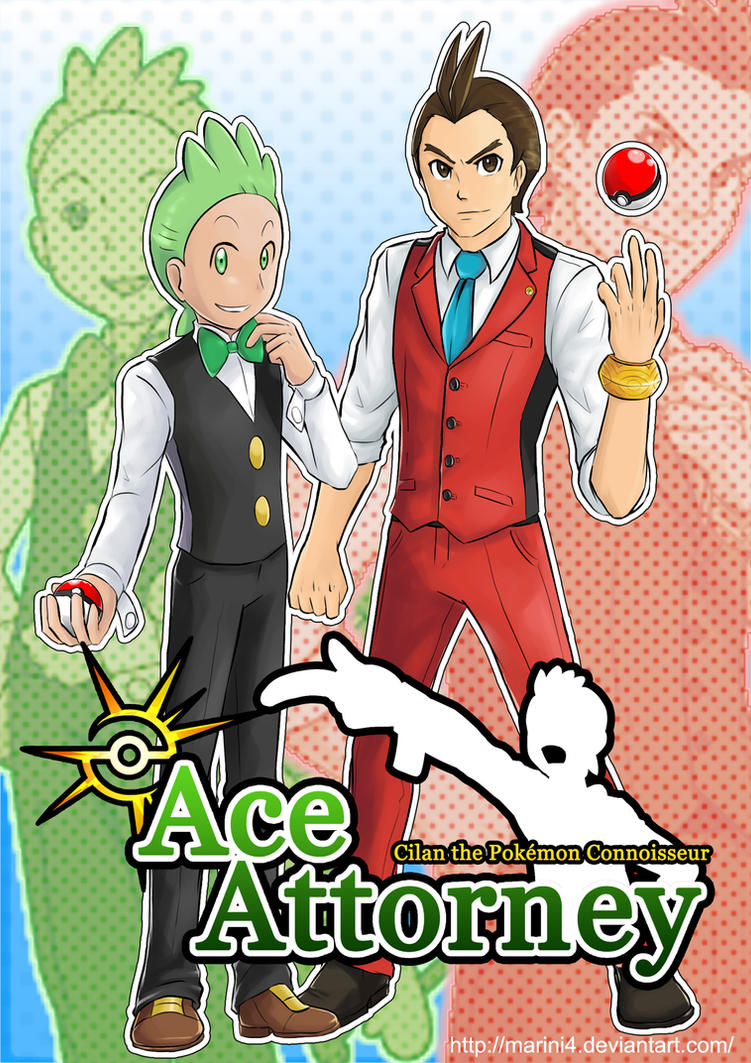 Ace Attorney Pokemon - Cilan and Apollo by Marini4