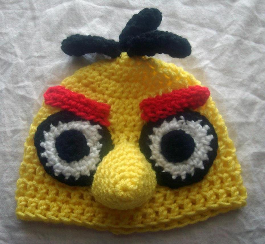 Yellow Angry Bird Flying Yellow Angry Bird Hat ...